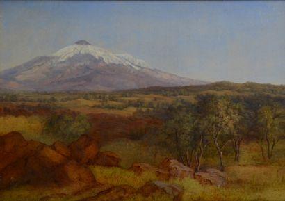 Ernst Meyer. (1797 - 1861)  Paysage de Sicile...