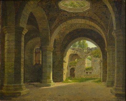 Heinrich Hansen. (1821 - 1890)  L'église...