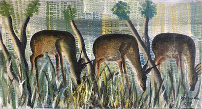 Kabinda Kunkulu Victor (1927)  Trois antilopes...