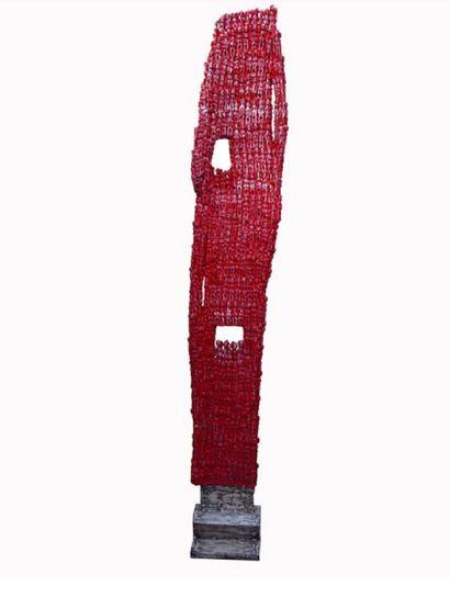 Dominique ZINKPÈ (Béninois, 1969)  Sculpture...