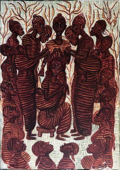 Mwenze Kibwanga (1925-1999)  Réunion de femmes,...