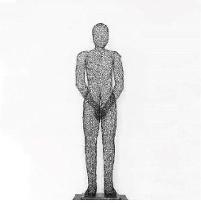 Remy SAMUZ (Béninois, 1982)  Homme sur pied,...