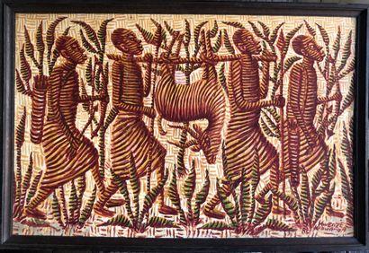 Mwenze Kibwanga (1925-1999)  Retour de chasse...