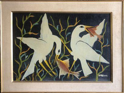 Kabinda Kunkulu Victor (1927)  Deux échassiers...