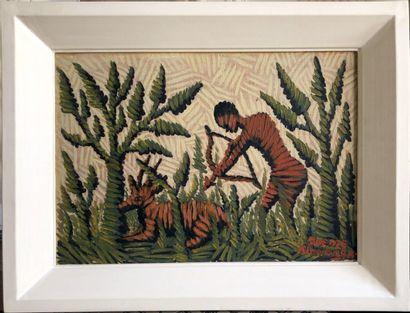 Mwenze Kibwanga (1925-1999)  Chasse à l'antilope...