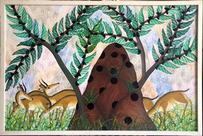Pilipili Mulongoy (vers 1914-2007)  Gazelles...