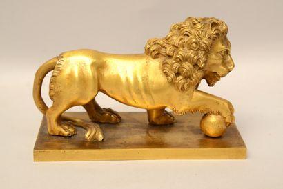 Ecole du XIXème siècle  Lion