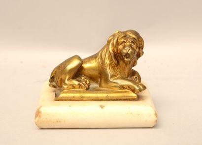 Ecole anglais? du XVIIIème siècle  Lion couché...