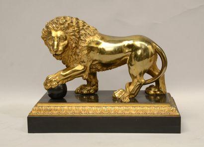 Ecole du XIXème siècle  Lion de la Villa...