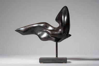 LHOSTE  L'oiseau n°1  Bronze à patine noire,...
