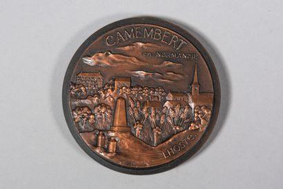 LHOSTE  Médaille en bronze commemorative...