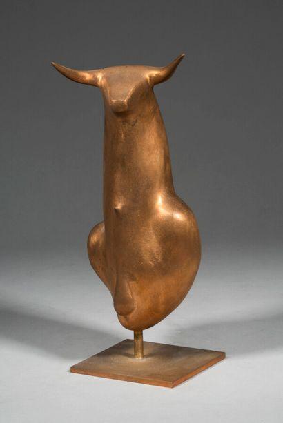 LHOSTE  Pampelune  Bronze poli brut (à patiner),...