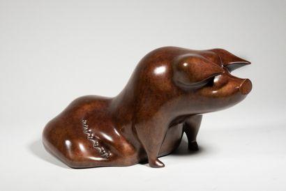 LHOSTE  La truie  Bronze, numéroté 2/8  20...