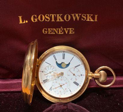 LAURENT GOSTKOWSKI à Genève  Rare MONTRE...