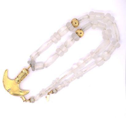 COLLIER de style précolombien ornés de perles...
