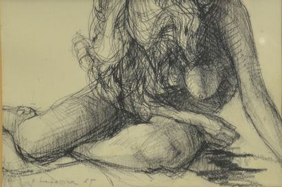 LETELLIER Pierre (1928-2000)  Nu, 1967  Fusain...