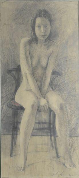 ZABOROV Boris (1937-2021)  Nu assis, 2000...