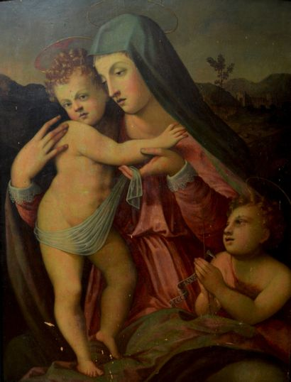 Francesco BRINA (1540 - 1585)  La Vierge...