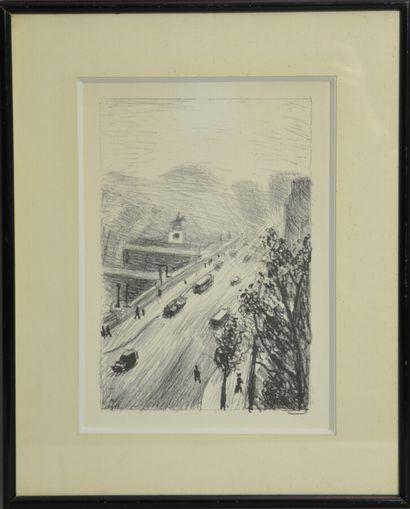 MARQUET Albert,  Rhapsodie Parisienne  Huit lithographies pour illustrer l'oeuvre...