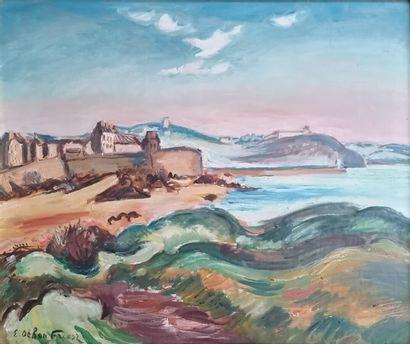 OTHON-FRIESZ Emile (1879-1949)  Vue d'Antibe...