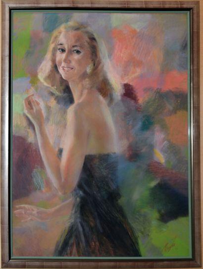 CHICHKINE Gueorui 1948  Portrait d'élégante...