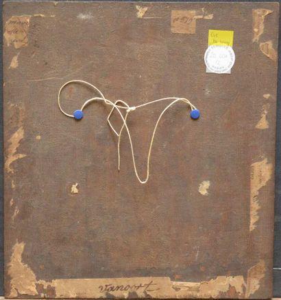 Ecole ALLEMANDE vers 1800  Portrait d'homme barbu  Toile marouflée sur panneau  31...