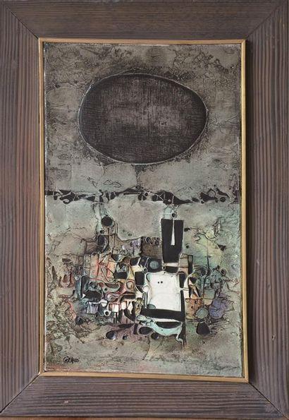 GIRAUD  Composition VI  Huile sur toile,...