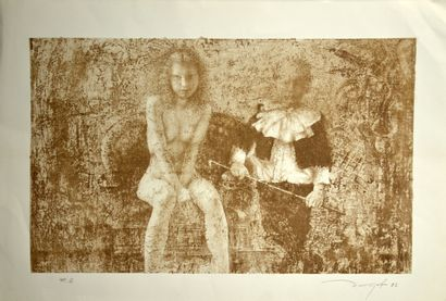 ZABOROV Boris (1937-2021)  Enfant et nu assis...