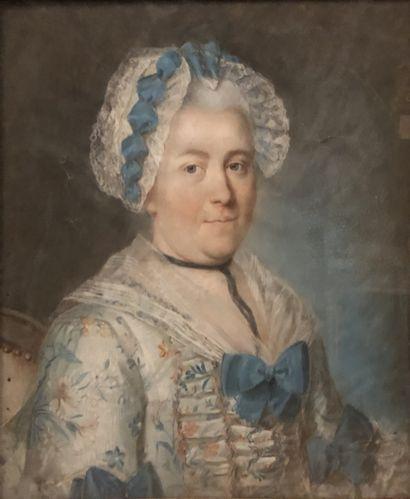Ecole FRANCAISE vers 1770  Portrait de Marie...