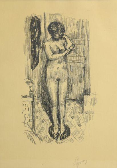 BONNARD Pierre (1867-1947)  Etude de nu,...