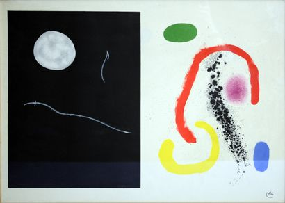 MIRO Joan (1893-1983)  Composition  Lithographie...
