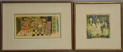 CLAVE Antoni (1913-2005)  Carmen  Deux gravures...