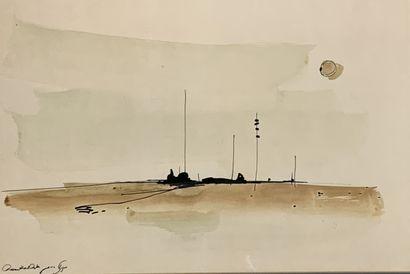 Chaim ROSENTHAL (1938)  Paysage maritime...