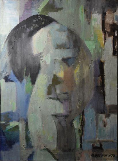 MASSON Hervé ( 1918-1990)  Nu  Huile sur toile signée en bas à droite  81 x 60 ...