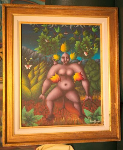 CHRYSLER Bruno (1944)  Ninette  Acrylique sur toile signée en bas à droite  51 x...