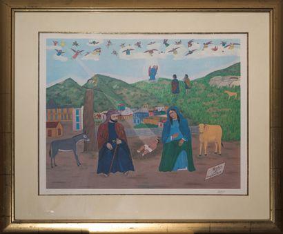 OBIN Philomé (1892 - 1986)  Nativité  Lithographie...