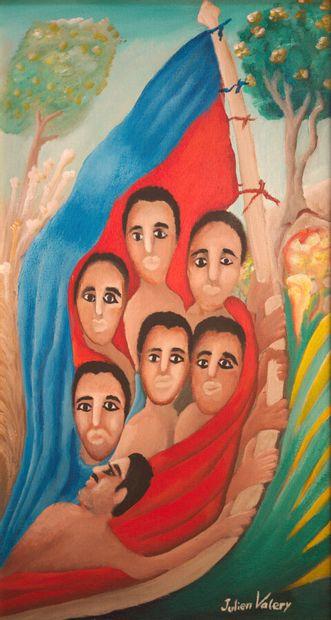 VALERY Julien (1958 - 2001)  Haïti  Acrylique...