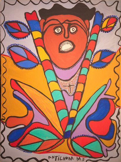 ANTILHOMME Richard (1922 - 2002)  Loa  Acrylique sur toile signée au milieu en bas...