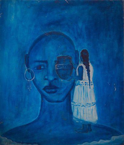 ZAQUA M.  Acqua  Acrylique sur toile signée en bas à gauche  60 x 50 cm  Avec cadre...