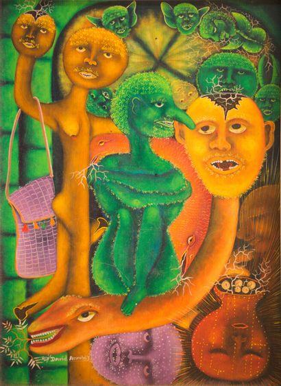 ANNISEY Roi-David (1967)  Cousin Zaka  Huile...