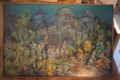 VITAL M.  Le palais des rêves  Huile sur toile signée en bas à gauche  61 x 91 ...