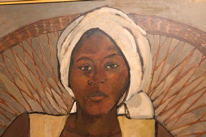 TURNIER Luce (1924 - 1994)  Autoportrait  Huile sur toile signée en haut à gauche...