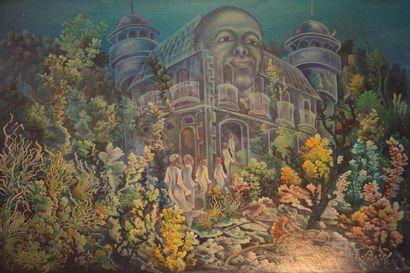 VITAL M.  Le palais des rêves  Huile sur...