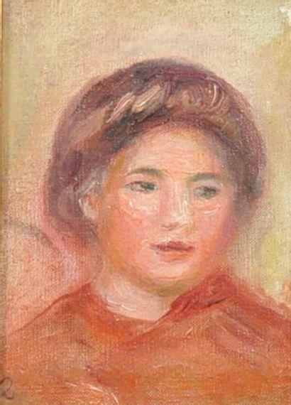 Pierre-Auguste RENOIR (1841-1919) Portrait de femme Huile sur toile portant un monogramme...