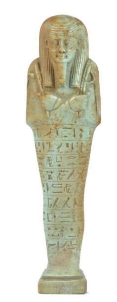 Oushebti au nom du Chancelier de Basse Egypte,...