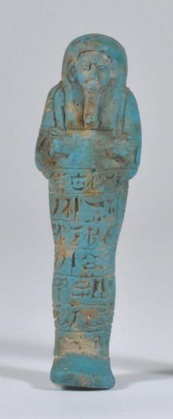 Oushebti au nom du Gouverneur de Haute Egypte,...