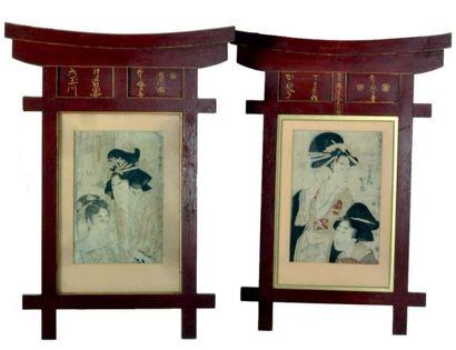 Estampes japonaises Utamaro (1753-1806):...