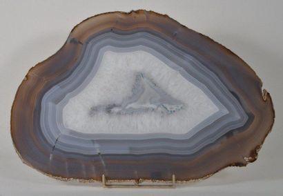 Très belle et grande plaque d'agate rubanné...