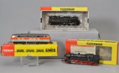 Fleischmann (Ecart HO): Loco-tender type...