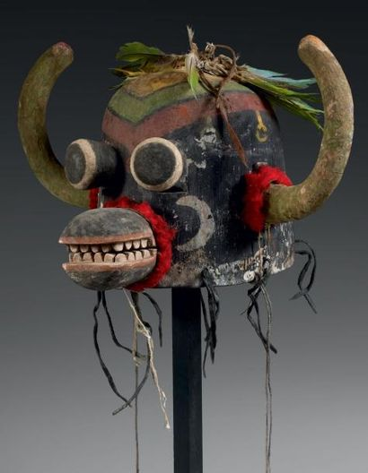 Masque de Kachina HO-O-TE ou AHOTE Hopi Arizona,...